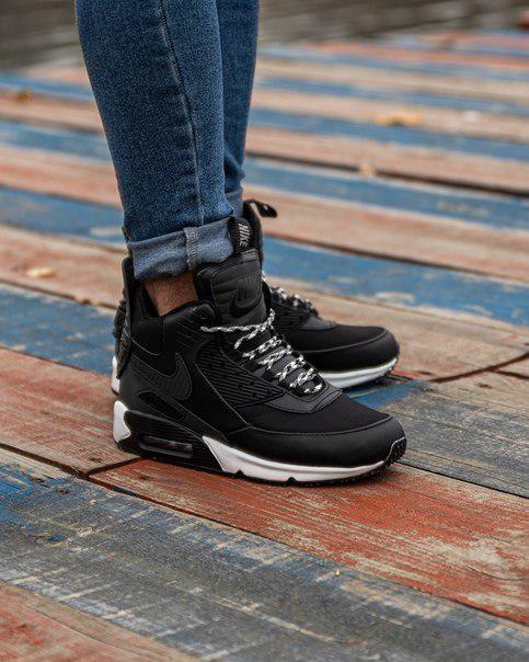 Кроссовки зимние Nike Air Max 90 Sneakerboot две модели