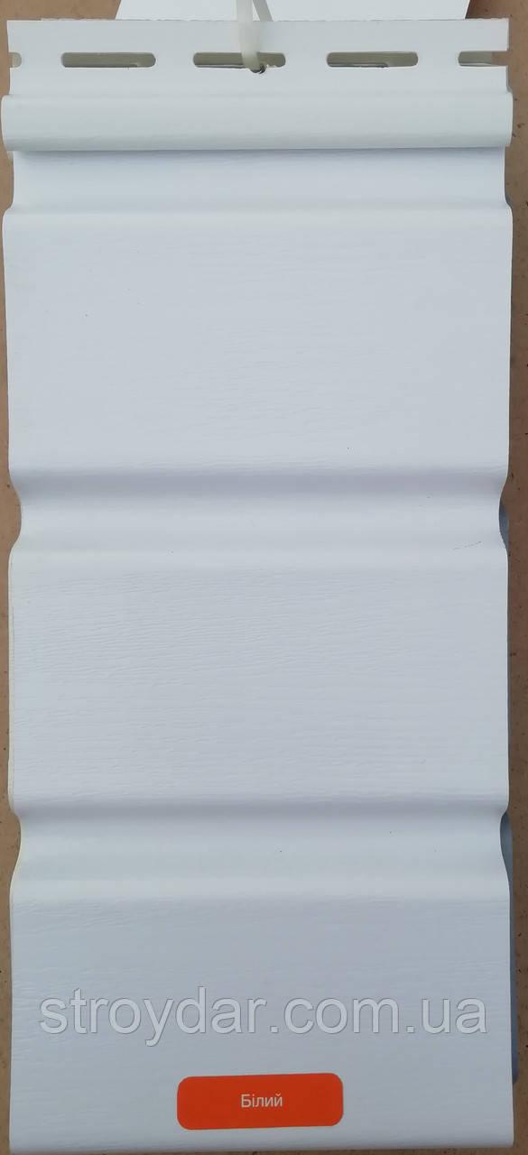 Карнизна подшіваясь покрівлі Asko Neo колір білий з перфорацією і без