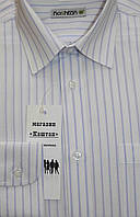 Белая школьная рубашка в полоску