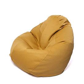 Кресло мешок Груша XXL | рогожка Queens MUSTARD