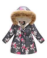 Удлиненная детская курточка 140-150 р.