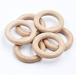 Деревянные кольца 55/10 мм для слингобус и грызунков, бук, фото 2