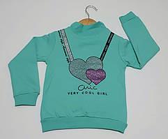 Детский гольф с начесом для девочек 2-8 лет двунитка Турция оптом