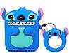 Чехол для Apple AirPods Stitch Стич (Blue) + держатель на палец (88633)