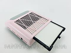 Вытяжка маникюрная BQ-858-8, 80 Вт. Розовый