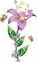 Детские интерьерные наклейки на стену или окно - декоративная наклейка Hello Kitty Фея