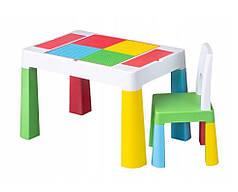 Детский стол, столик лего доска lego, стул в комплекте Multifan Eco Tega