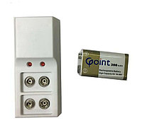 Крона Аккумулятор 9V + Универсальное зарядное устройство для кроны 9V для Пинпоинтер GP-POINTER Garrett Pro-P
