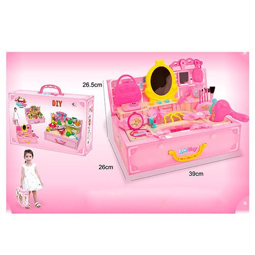 Игрушечный набор аксессуаров в чемодане 6666 для девочек
