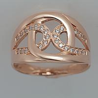 Золотое кольцо с фианитами КП1777