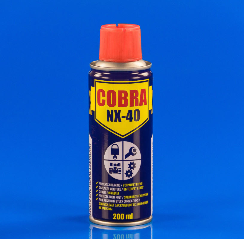 Многофункциональная смазка COBRA NX-40 200ml NOWAX (США)