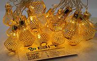 Светодиодная гирлянда Золотые Фонарики 20шт 4м 220V (20METAL-WW8), фото 1