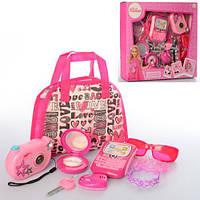 Детский набор аксессуаров игрушечный с сумочкой LM5546 розовый