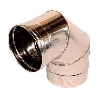 Колено 90* d 130 мм; 0,6 мм из нержавеющей стали (AISI 304) Версия-Люкс