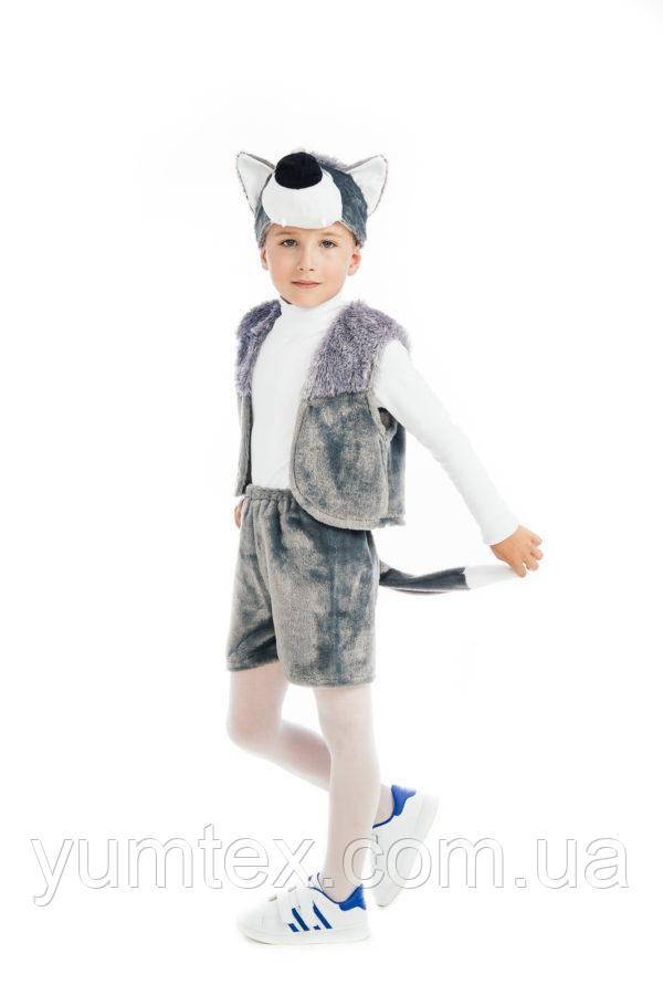 """Карнавальный костюм из атласа """"Волк"""", размер 3-7 лет"""