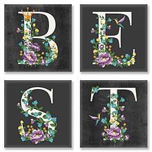 Набор для росписи по номерам BEST лофт 18x18 см 4 шт