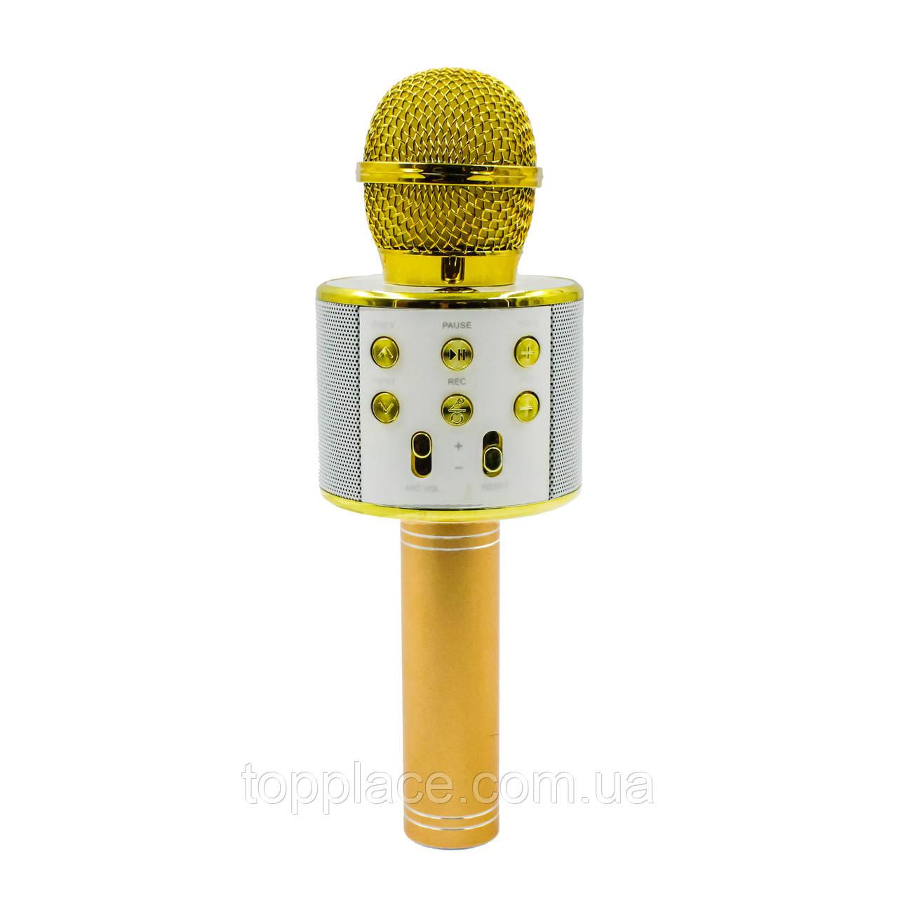 Портативный караоке микрофон Wster WS-858, Золотой