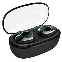 ◯Беспроводная Bluetooth гарнитура KUMI T5S Black Smart Touch спортивные наушники с зарядным устройством, фото 4