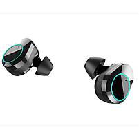 ◯Беспроводная Bluetooth гарнитура KUMI T5S Black Smart Touch спортивные наушники с зарядным устройством, фото 5