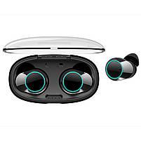 ◯Беспроводная Bluetooth гарнитура KUMI T5S Black Smart Touch спортивные наушники с зарядным устройством, фото 6