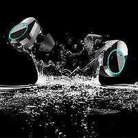 ◯Беспроводная Bluetooth гарнитура KUMI T5S Black Smart Touch спортивные наушники с зарядным устройством, фото 7