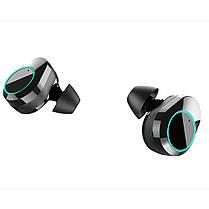 ϞБеспроводная Bluetooth гарнитура KUMI T5S Black Блютуз 5.0 влагозащищенная сенсорная с зарядным кейсом, фото 3