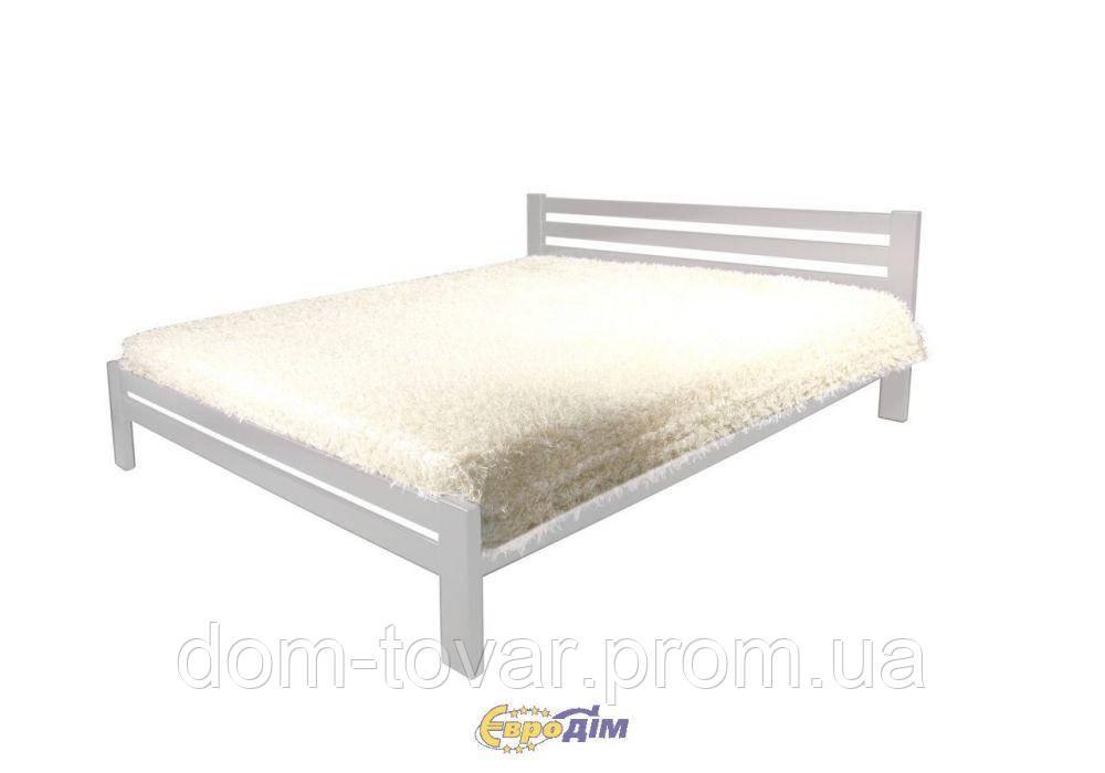 Кровать Классик (900*2000) щит сосна белый