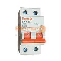 Автоматический выключатель ВА 1-63 4,5kA 2A 2P С тм Electro