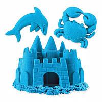 Песок для детского творчества - KINETIC SAND BUILD (белый - 227 г, голубой - 227 г)