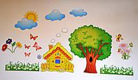 Сказочный домик. Настенная декорация для детского сада.