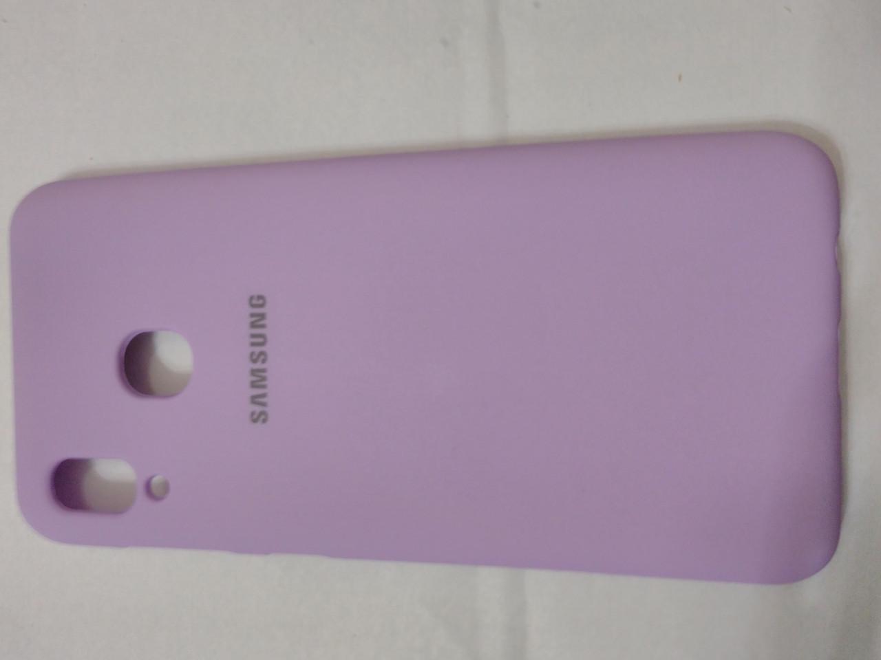 Накладка   Silicon Cover full   для  Samsung A20  2019 //  A30 2019  (фиолетовый)