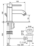 Змішувач для умивальника 3-132, фото 2