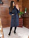 Женское плащевое зимнее Пальто с капюшоном и карманами 66pal261Е, фото 2