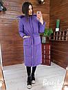Женское плащевое зимнее Пальто с капюшоном и карманами 66pal261Е, фото 3