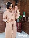 Женское плащевое зимнее Пальто с капюшоном и карманами 66pal261Е, фото 6