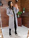 Женское плащевое зимнее Пальто с капюшоном и карманами 66pal261Е, фото 7