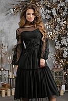 Женское вечернее платье №7288 (р.42-46) черный, фото 1