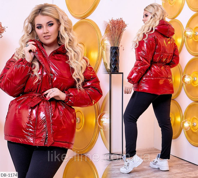 Женская зимняя тёплая куртка силикон 200