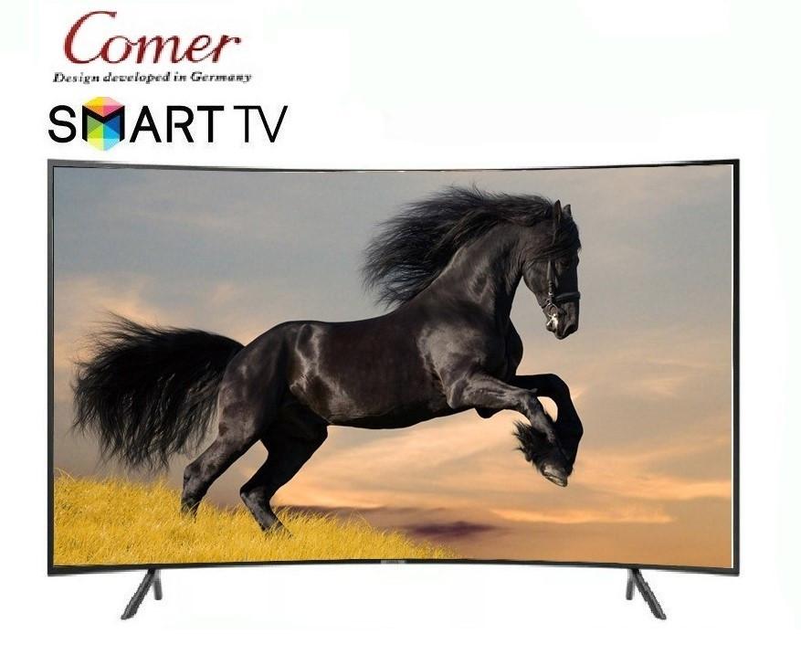 Телевизор Comer32 дюйма SmartTV, Wi-Fi,Full HD.Комер E32DU3100 с изогнутым экраном.