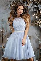 Женское вечернее платье №7290 (р.42-46) серый, фото 1