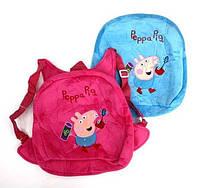 Мягкий рюкзак Свинка велюр 28*23 см