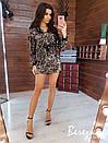 Платье худи из пайетки с кулиской на талии и капюшоном 66plt352Q, фото 2