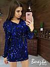 Платье худи из пайетки с кулиской на талии и капюшоном 66plt352Q, фото 6