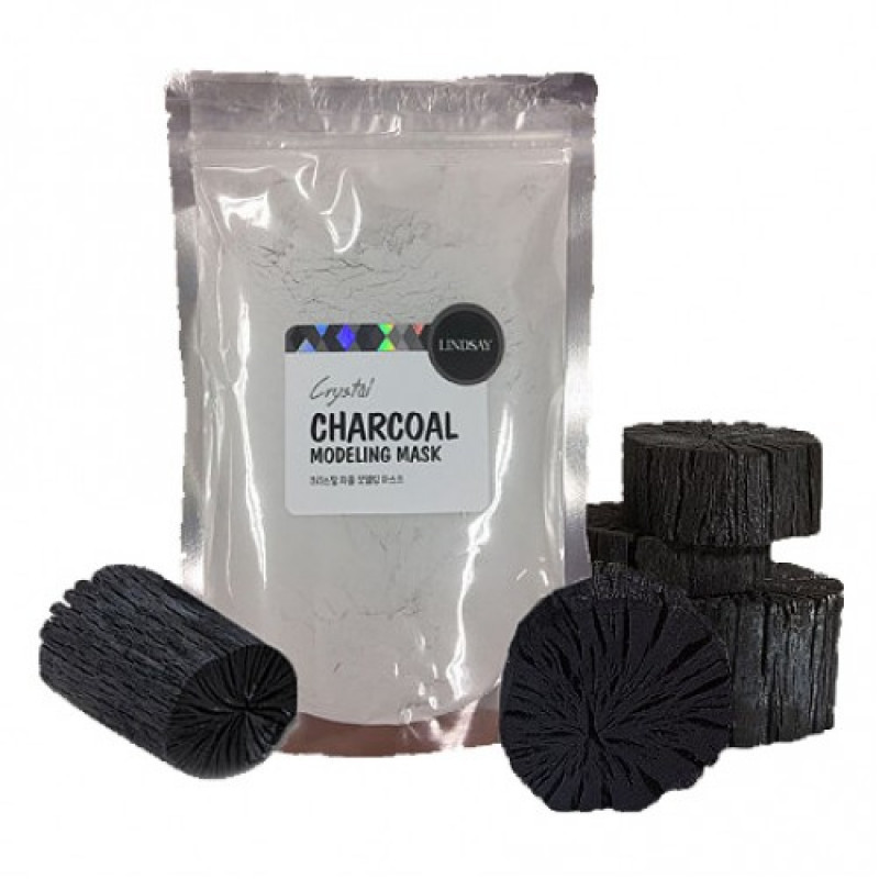Альгинатная маска для лица с древесным углем Lindsay Premium Charcoal Mask Pack