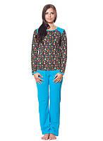 Яркая женская пижама со штанами (S-2XL)