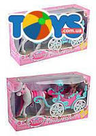 Куколка + карета с лошадью, 2 вида, 57050