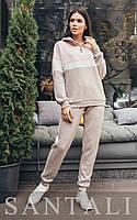 Ангоровый женский спортивный костюм с люрексом и худи 45spt810