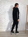 Женский спортивный костюм на флисе со свободной кофтой и зауженными штанами 73spt811, фото 2