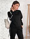 Женский спортивный костюм на флисе со свободной кофтой и зауженными штанами 73spt811, фото 3