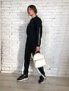 Женский спортивный костюм на флисе со свободной кофтой и зауженными штанами 73spt811, фото 4